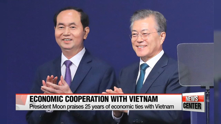 President Moon encourages active economic cooperation between Seoul and Hanoi