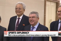 IOC chief begins three-day visit to North Korea for talks on sports issues