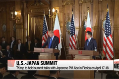 Trump to hold summit talks with Japanese PM Abe in Florida on April 17-18