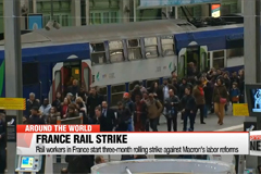 Rail workers in France start three-month rolling strike against Macron's labor reforms