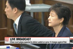Former President Park Geun-hye's sentencing to be televised live tomorrow