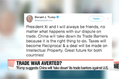 Trump suggests China will 'take down' its trade barriers