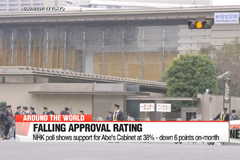 NHK poll shows support for Abe's Cabinet at 38% - down 6 points on-month