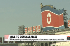 North Korea willing to denuclearize if progressive and synchronous steps taken