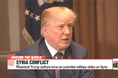 President Trump softens tone on potential military strike on Syria