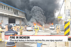 Chemical factory in Incheon catches fire; one injury reported