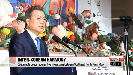 Buddhist principle of harmony, mutual respect can improve inter-Korean relations: Pres. Moon