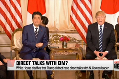 White House clarifies that Trump did not talk directly with Kim Jong-un