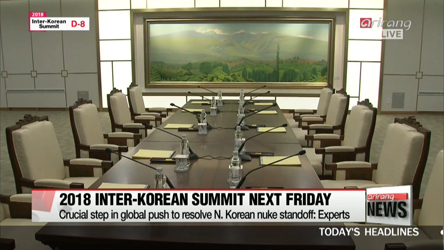 Two Koreas agree to broadcast live parts of 2018 Inter-Korean Summit next week
