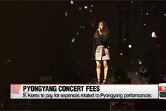 S. Korean gov't to pay for performance fees, flight charges, etc. for its Pyongyang performances