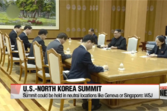U.S.-N. Korea summit could be held in neutral locations like Geneva or Singapore: WSJ