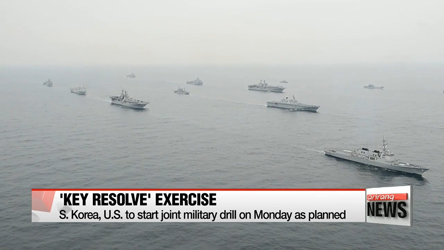 S. Korea, U.S. to start joint military drill on Monday as planned