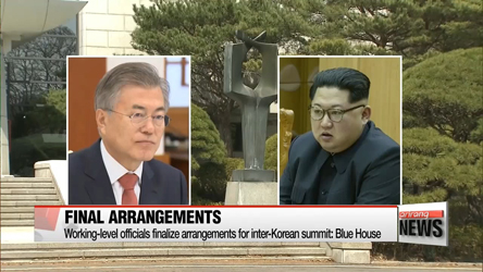 Working-level officials from South and North meet at Panmunjom Monday morning