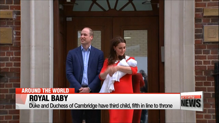 Duke and Duchess of Cambridge have third child