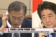 President Moon talks with PM Abe ahead of the upcoming Inter-Korean Summit