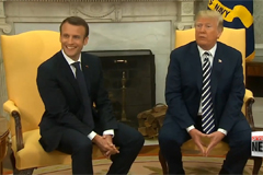 Trump blasts Iran nuclear deal as 'insane' as Macron urges U.S. not to pull out of pact