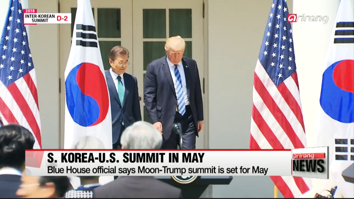 S. Korea-U.S. summit set to take place in mid May: Blue House official