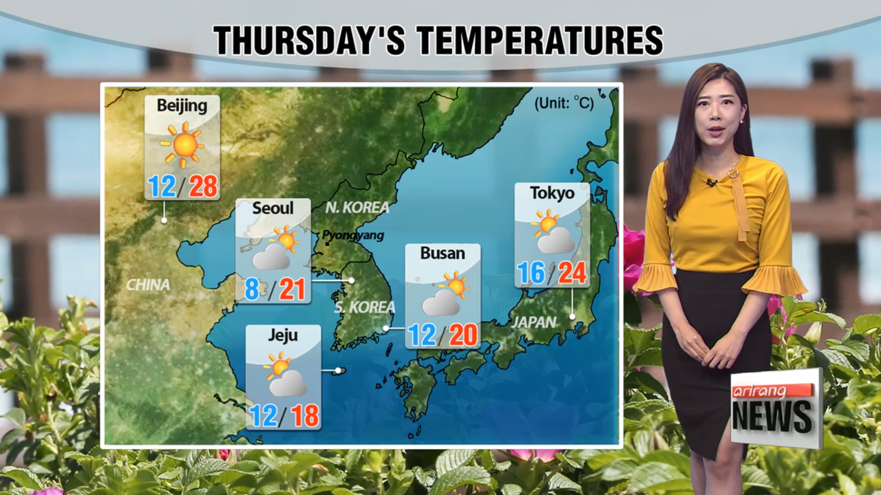 Wide temperature differences under mostly sunny skies