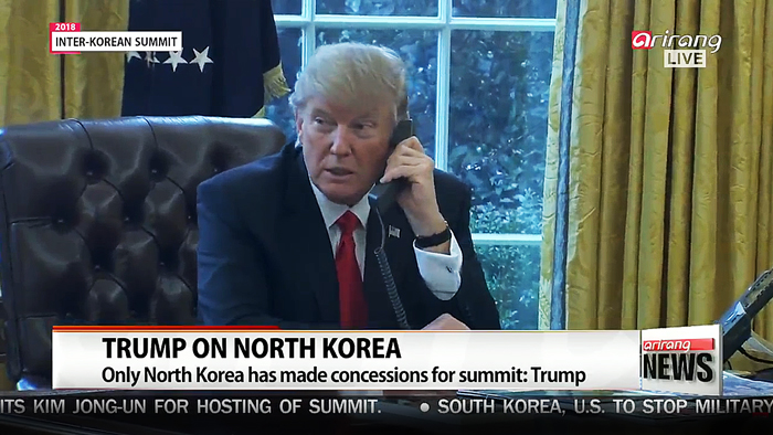 Trump says 3 or 4 dates being discussed for North Korea-U.S. summit