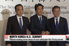 N. Korea denuclearization issue brings together S. Korea, Japan and China for first summit in over 2 years