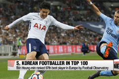 Son Heung-min included in top 100 fooball players in Europe