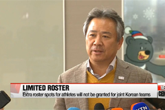 Extra roster spots for athletes will not be granted for joint Korean teams at Asian Games