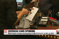 South Koreans' overseas card spending hits new high in the first quarter