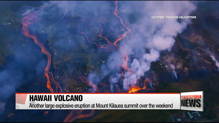 Hawaii volcano erupts anew, spews huge plume of ash into sky