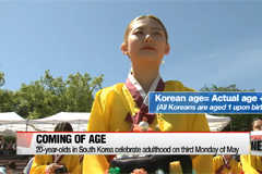 20 year-old South Koreans celebrate coming of age