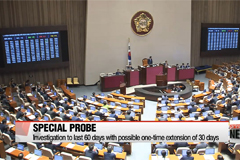 National Assembly passes extra budget proposal, special probe bill