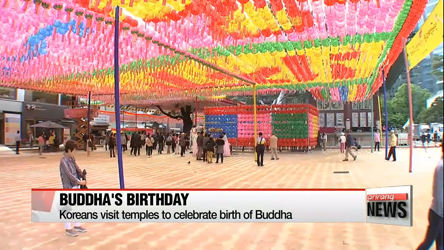 Koreans visit temples to celebrate birth of Buddha