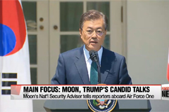 12) Moon lands in Washington for make or break meeting with Trump