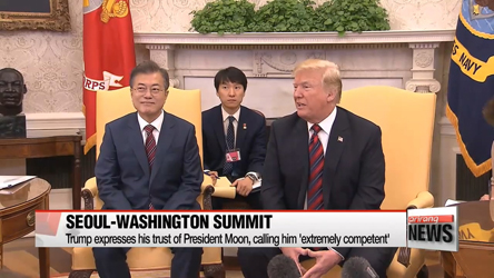 Presidents Moon and Trump agree to push for N. Korea summit as schedul...