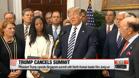 Trump cancels summit with North Korean leader Kim Jong-un