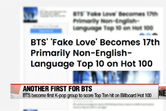 BTS become first K-pop group to score Top Ten hit on Billboard Hot 100