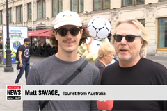 Football fans descend on Russia ahead of 2018 World Cup