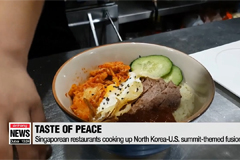 Burgers, fried rice inspired by Kim-Trump summit offers taste of peace