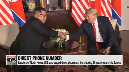 Leaders of North Korea, U.S. exchanged direct phone numbers during Singapore summit: Source
