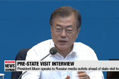 President Moon speaks to Russian media outlets ahead of state visit to Russia