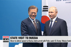 President Moon embarks on 3-day state visit to Russia