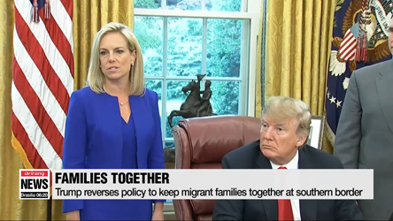 Trump reverses policy to keep migrant families together at Mexican border