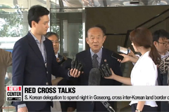 S. Korean delegation leaves for Friday's Red Cross Talks