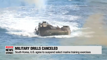 South Korea, U.S. agree to suspend select marine training exercises