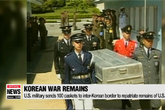 U.S. military sends 100 caskets to inter-Korean border to repatriate remains of U.S. soldiers