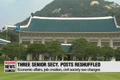 S. Korean President replaces top aides for economy, job creations, civil society