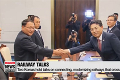 Two Koreas to start joint investigations on railroads next month