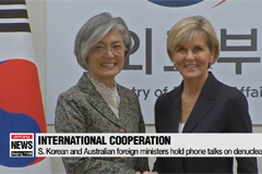 S. Korean and Australian foreign ministers hold phone talks on denuclearization