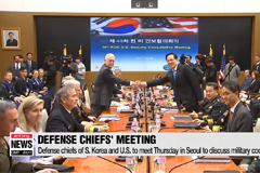 Defense chiefs of S. Korea and U.S. to meet Thursday in Seoul to discuss military cooperation
