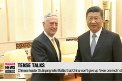 Chinese leader Xi Jinping tells Mattis that China won't give up 'even one inch' of territory