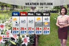 Cloudy and humid weather tomorrow
